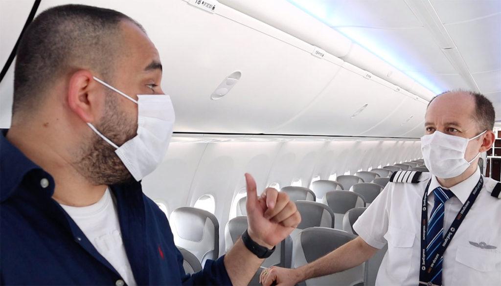Uçak kabininde koronavirüs dolayısıyla bir çok uygulama değişmiş durumda.